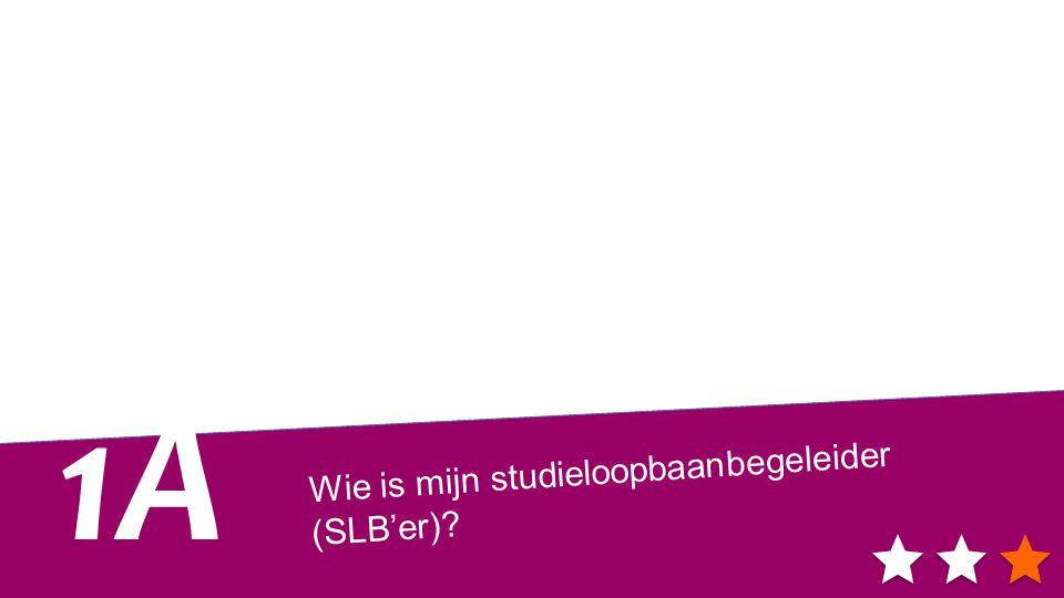 Wie is mijn studieloopbaanbegeleider (SLB'er)? 1A