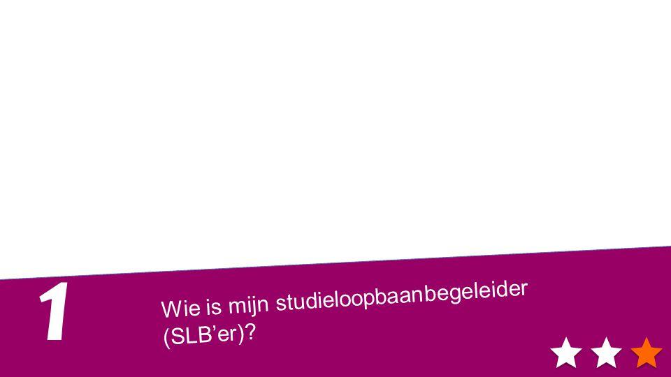 Wie is mijn studieloopbaanbegeleider (SLB'er) 1