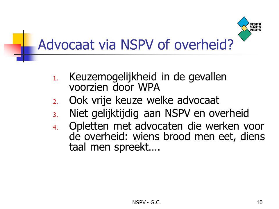 NSPV - G.C.10 Advocaat via NSPV of overheid.1.