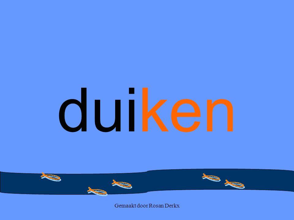 Gemaakt door Rosan Derkx duiken