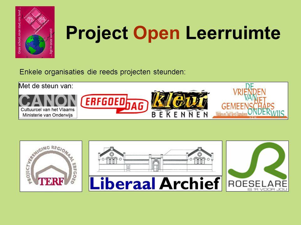 Project Open Leerruimte Schooljaar 2008-2009 Andere realisaties: Brochure GWPProgrammaboek toneelActie Vredeseilanden