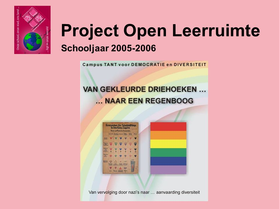 Project Open Leerruimte Schooljaar 2008-2009 Het thema erfgoed werd verder uitgewerkt: deelname aan Open Monumentendag 14 september 2008 met voorstelling basreliëf van André Taeckens.