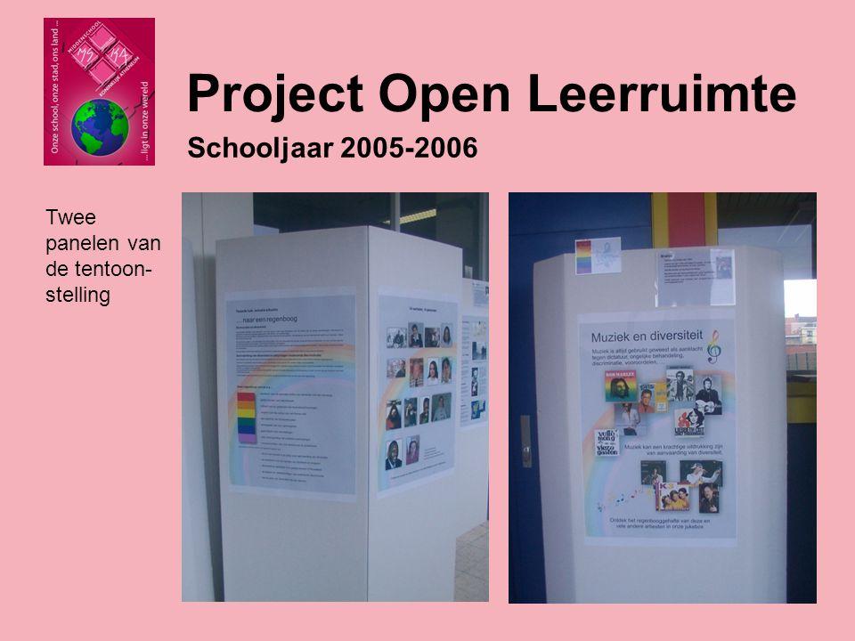 Schooljaar 2005-2006 Onze tentoonstelling werd opgesteld op de Dag van de democratie te Willebroek op 8 mei.