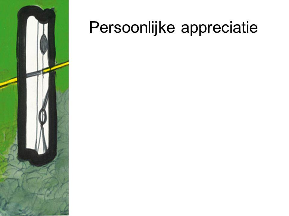 Persoonlijke appreciatie
