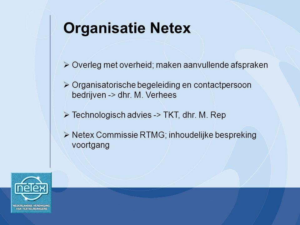  Overleg met overheid; maken aanvullende afspraken  Organisatorische begeleiding en contactpersoon bedrijven -> dhr.