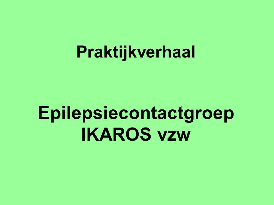 Ontstaan –in 1981 praatgroep van ouders –nood aan informatie en contact / besluit om als groep naar buiten te komen –in 1983 vzw geworden ('boom' ontstaan zelfhulpgroepen) –na een publiek optreden (8-daagse tentoonstelling over epilepsie in centrum Gent) – veel belangstelling – was eigenlijke start –interesse ook van personen met epilepsie – zo gemengde groep geworden –eerste 'vrijwilligers': ouders van kinderen met epilepsie