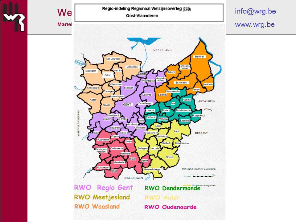 Welzijnsoverleg Regio Gent Martelaarslaan 204 B, 9000 Gent tel. 09/225.91.33 info@wrg.be www.wrg.be