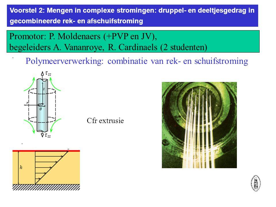 Voorstel 2: Mengen in complexe stromingen: druppel- en deeltjesgedrag in gecombineerde rek- en afschuifstroming..