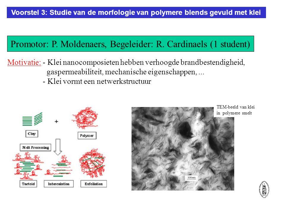 Voorstel 3: Studie van de morfologie van polymere blends gevuld met klei Motivatie: Promotor: P.