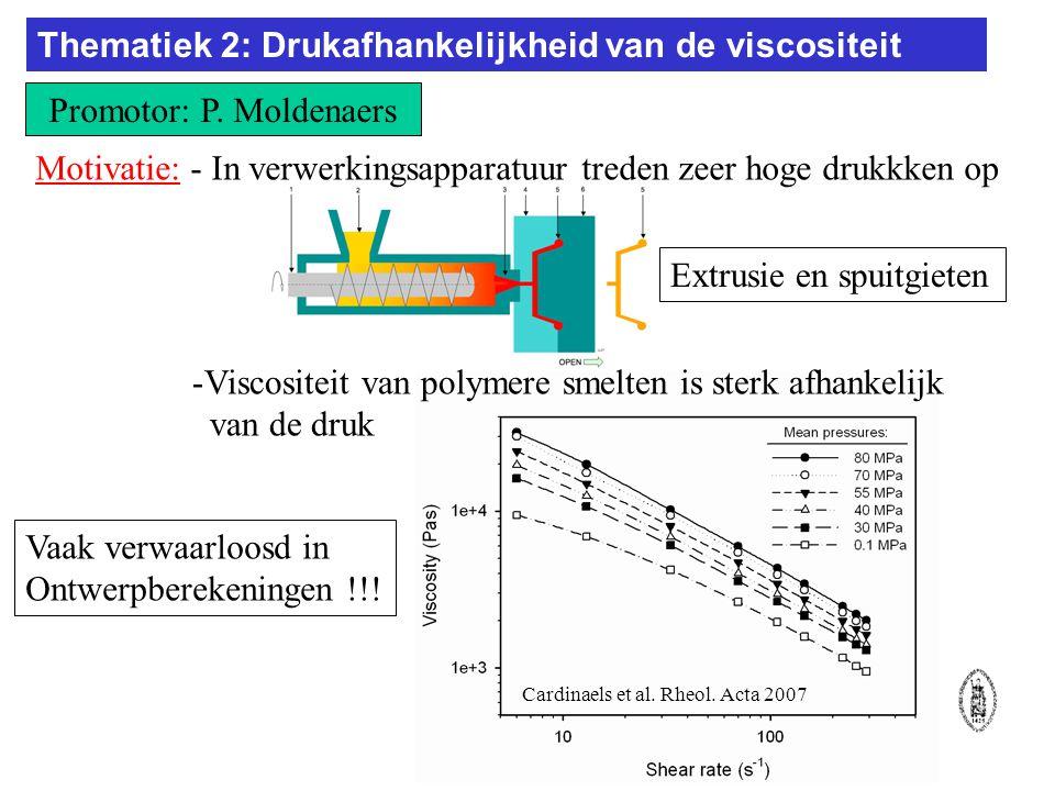 Thematiek 2: Drukafhankelijkheid van de viscositeit Promotor: P.