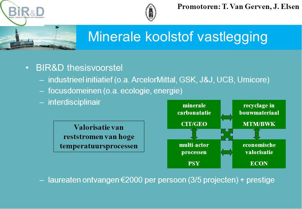 BIR&D thesisvoorstel –industrieel initiatief (o.a.