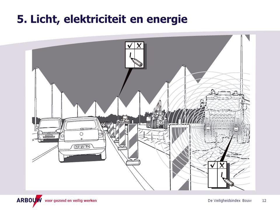voor gezond en veilig werken 5. Licht, elektriciteit en energie 12De Veiligheidsindex Bouw