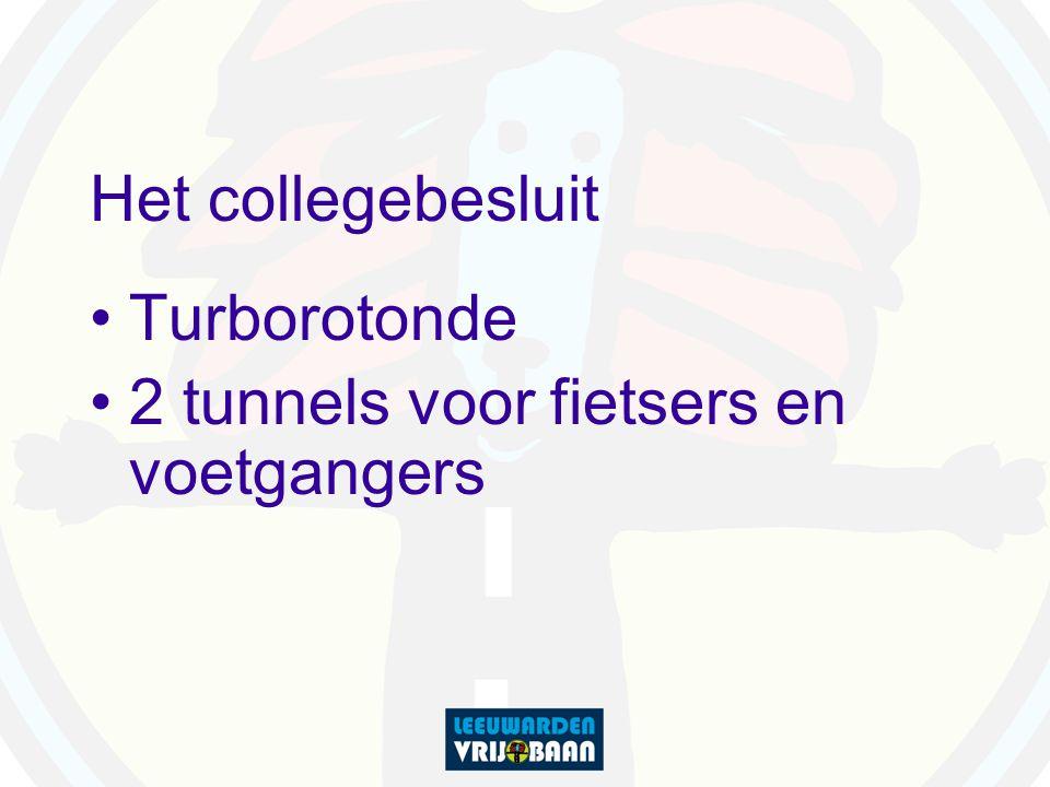 Het collegebesluit Turborotonde 2 tunnels voor fietsers en voetgangers