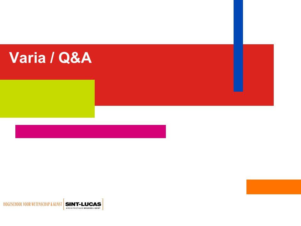 Varia / Q&A