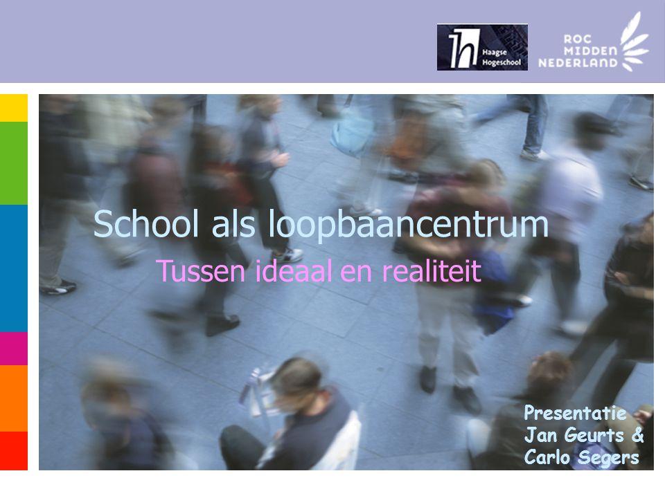 School als loopbaancentrum Tussen ideaal en realiteit Presentatie Jan Geurts & Carlo Segers