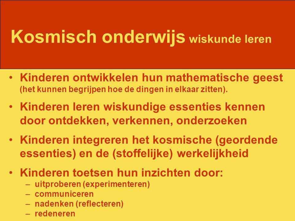 Kinderen ontwikkelen hun mathematische geest (het kunnen begrijpen hoe de dingen in elkaar zitten).