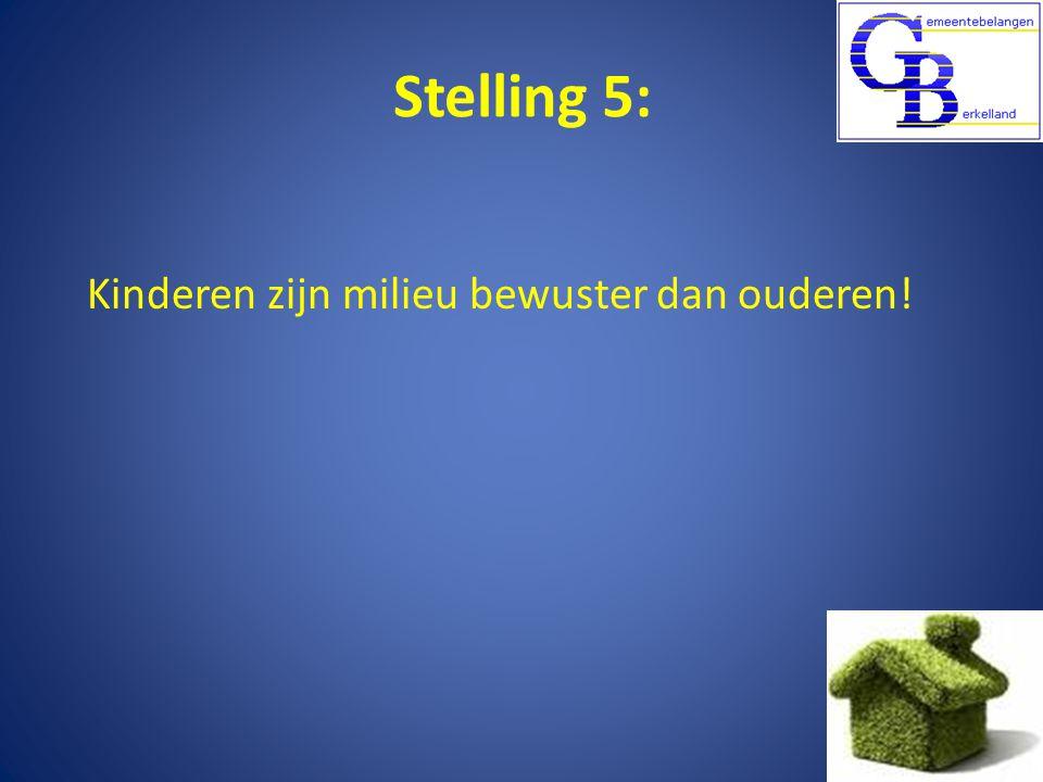 Stelling 5: Kinderen zijn milieu bewuster dan ouderen!