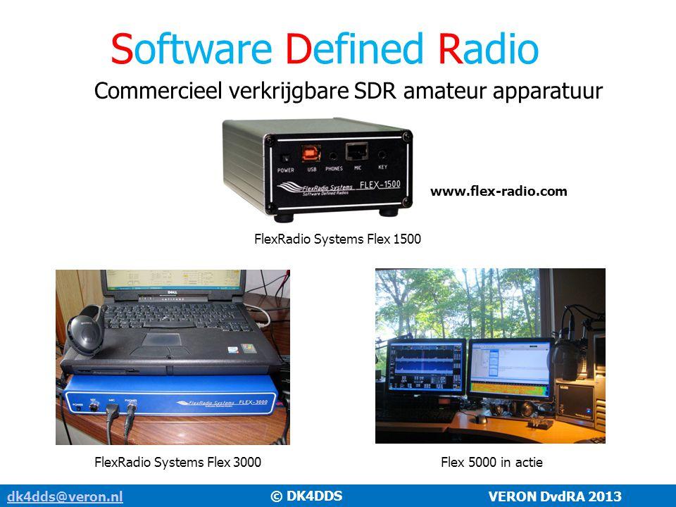 Software Defined Radio dk4dds@veron.nldk4dds@veron.nl VERON DvdRA 2013 Commercieel verkrijgbare SDR amateur apparatuur FlexRadio Systems Flex 3000Flex