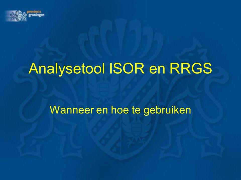 Analysetool ISOR en RRGS Wanneer en hoe te gebruiken