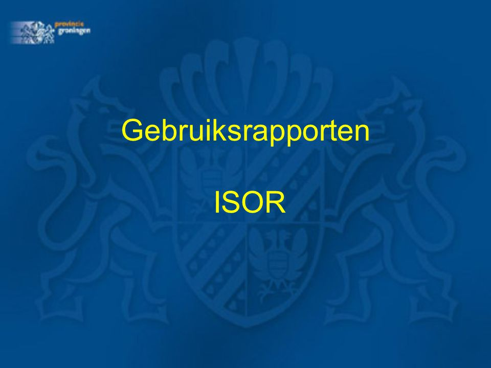 Conclusie Gebruiksrapporten: snel overzicht per gemeente Analysetool: voor grote en specifieke selecties