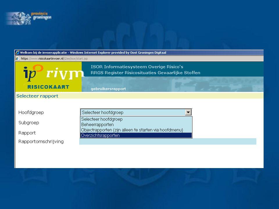 Hoe te gebruiken: -http://prdcrs.risicokaartinvoer.nl/Analyse -Inloggen met gebruikersnaam en wachtwoord die je ook voor de professionele risicokaart en invoerapplicatie gebruikt