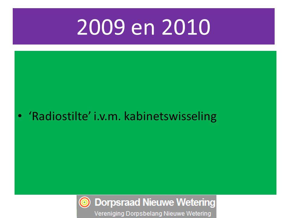 2009 en 2010 'Radiostilte' i.v.m. kabinetswisseling