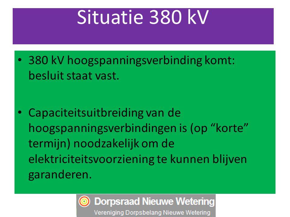 Situatie 380 kV 380 kV hoogspanningsverbinding komt: besluit staat vast.