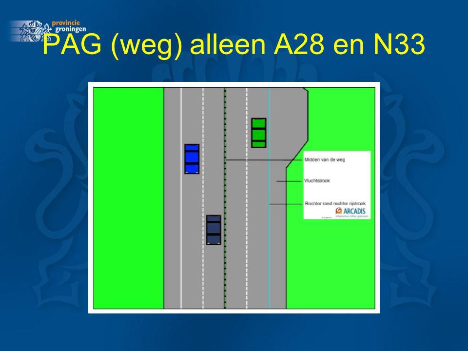 PAG (weg) alleen A28 en N33