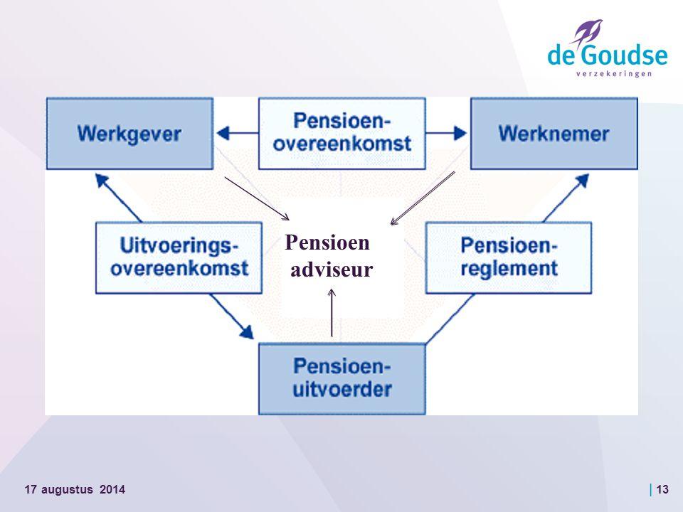 | 13 17 augustus 2014 Pensioen adviseur