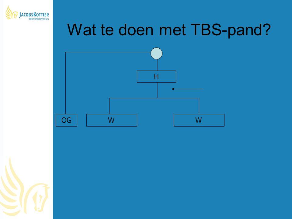 Wat te doen met TBS-pand? H WWOG
