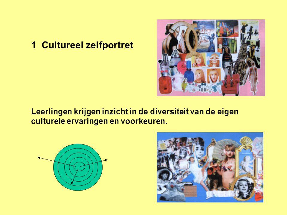 1 Cultureel zelfportret Leerlingen krijgen inzicht in de diversiteit van de eigen culturele ervaringen en voorkeuren.