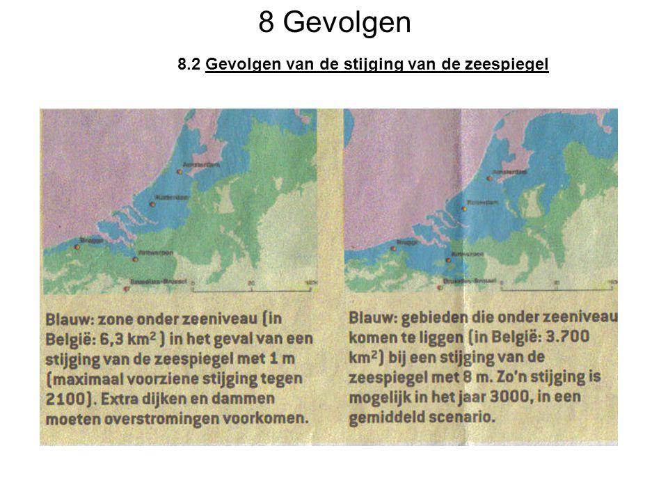 8 Gevolgen 8.2 Gevolgen van de stijging van de zeespiegel