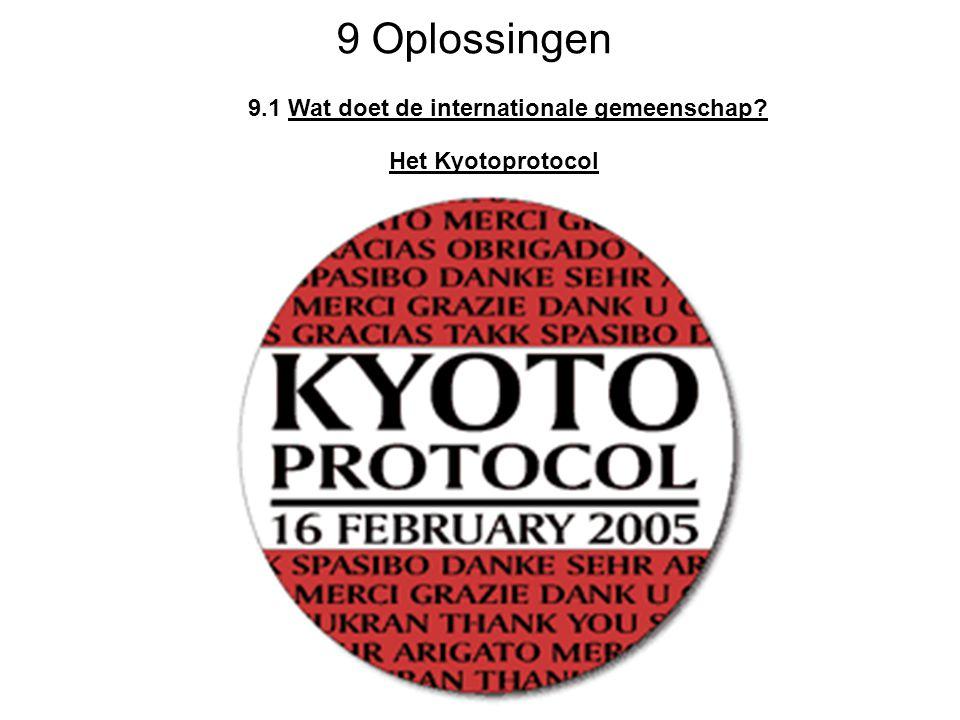 9 Oplossingen 9.1 Wat doet de internationale gemeenschap? Het Kyotoprotocol