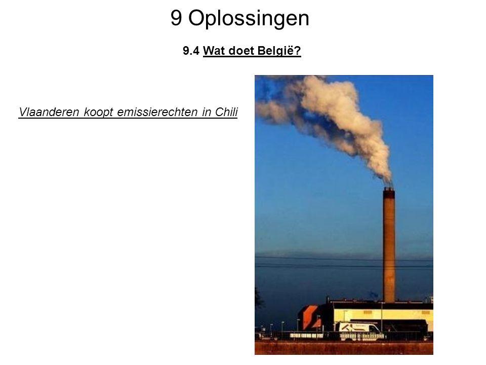 9 Oplossingen 9.4 Wat doet België? Vlaanderen koopt emissierechten in Chili