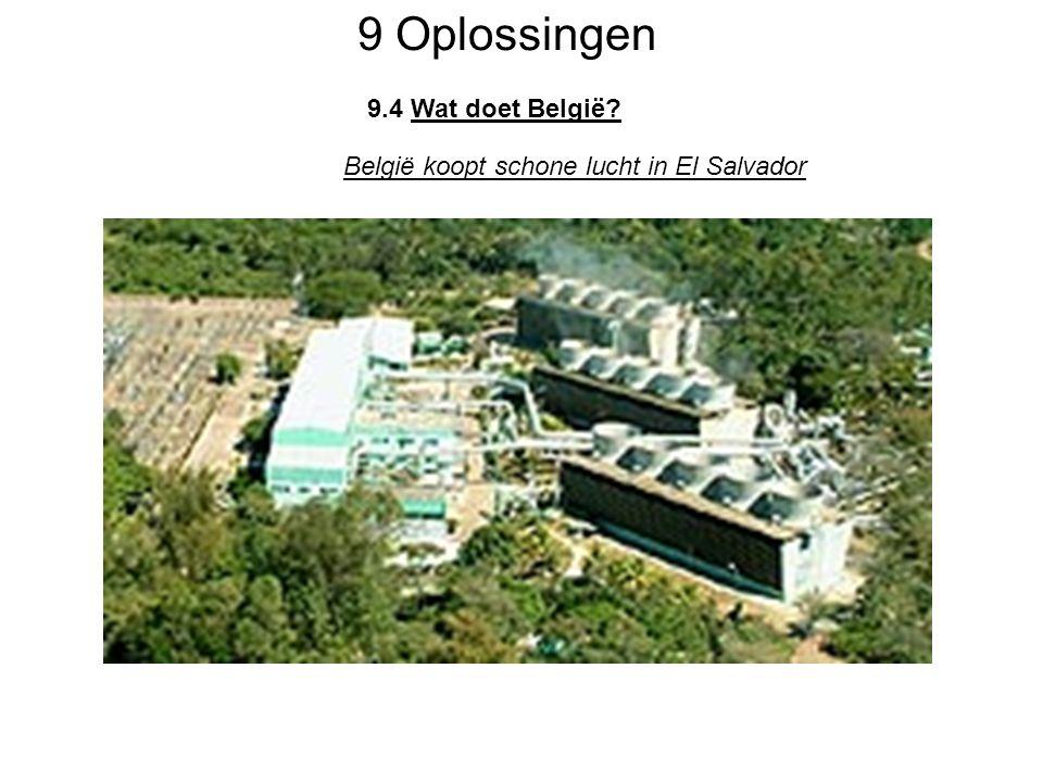 9 Oplossingen 9.4 Wat doet België? België koopt schone lucht in El Salvador