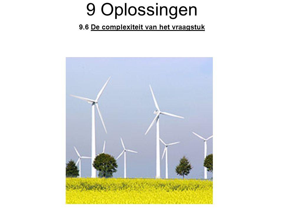 9.6 De complexiteit van het vraagstuk 9 Oplossingen