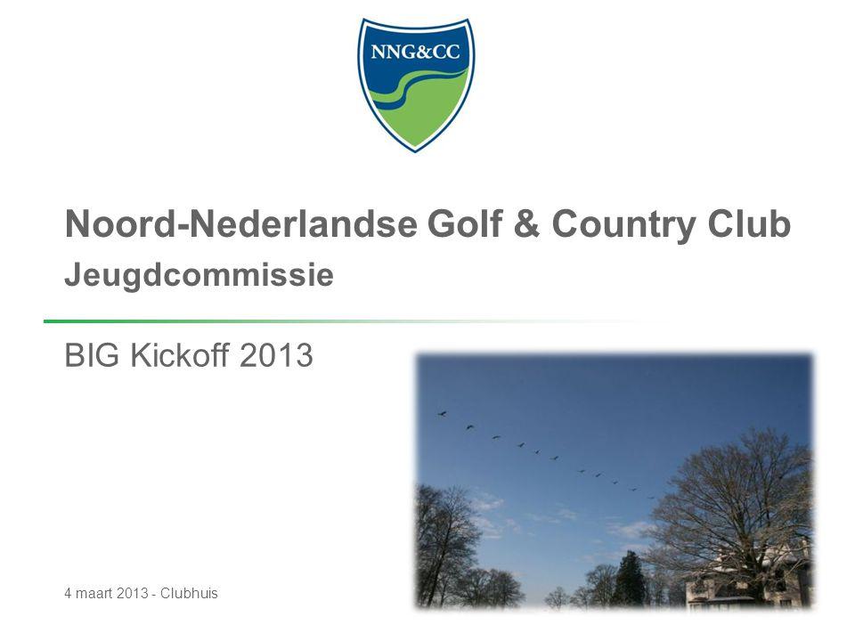 Noord-Nederlandse Golf & Country Club Jeugdcommissie BIG Kickoff 2013 4 maart 2013 - Clubhuis