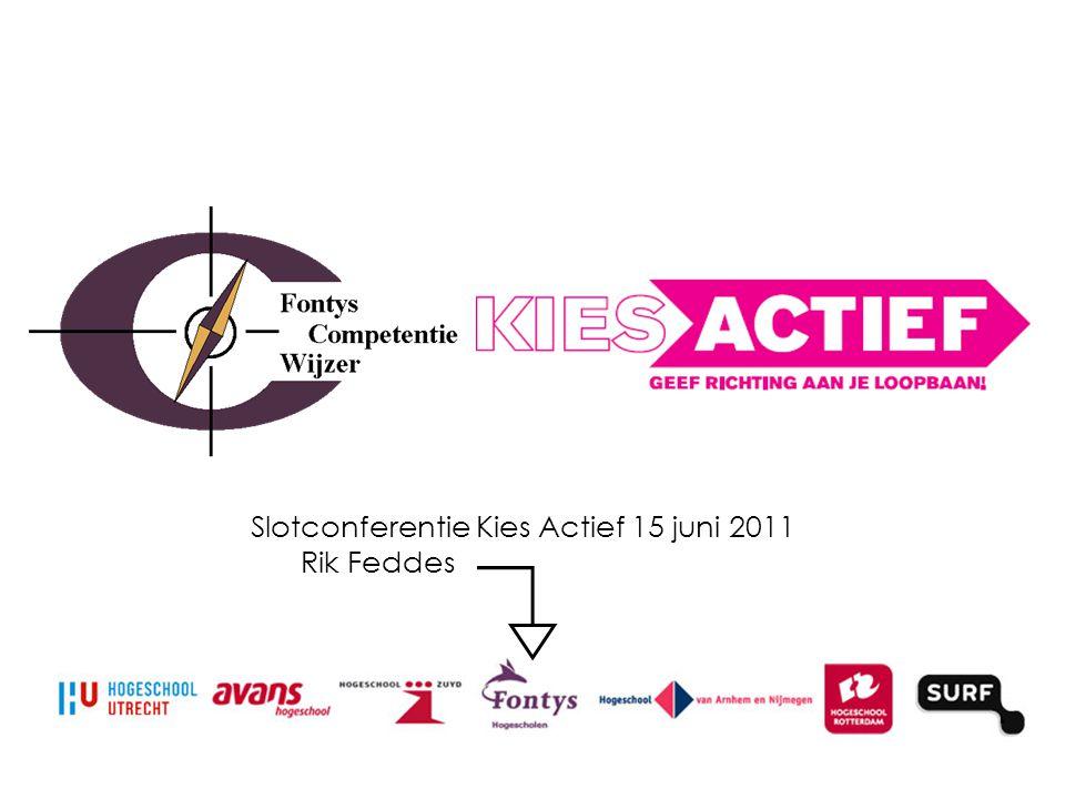 Slotconferentie Kies Actief 15 juni 2011 Rik Feddes ………………………..