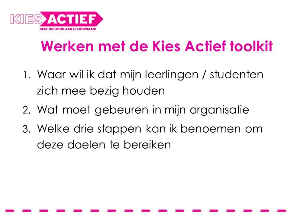 Werken met de Kies Actief toolkit 1.