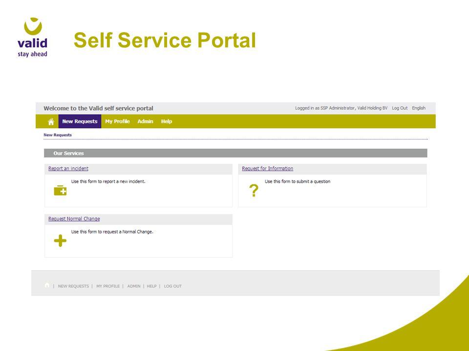 Self Service Portal