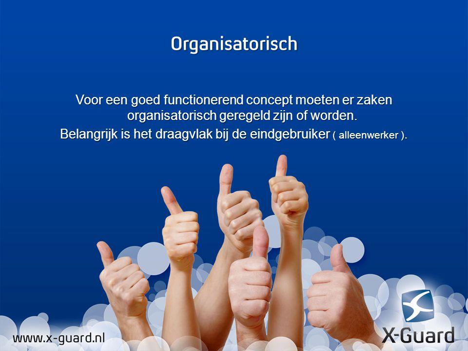 Voor een goed functionerend concept moeten er zaken organisatorisch geregeld zijn of worden.