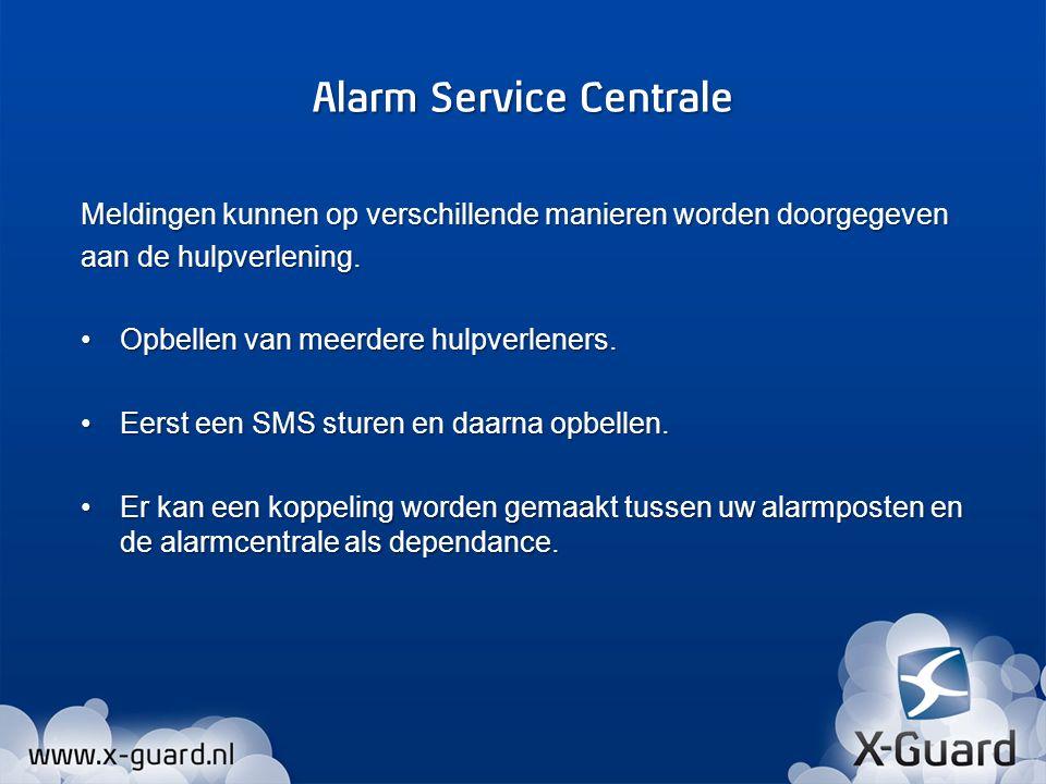 De melding met een lagere urgentie wordt geactiveerd door het indrukken van de rode knop.
