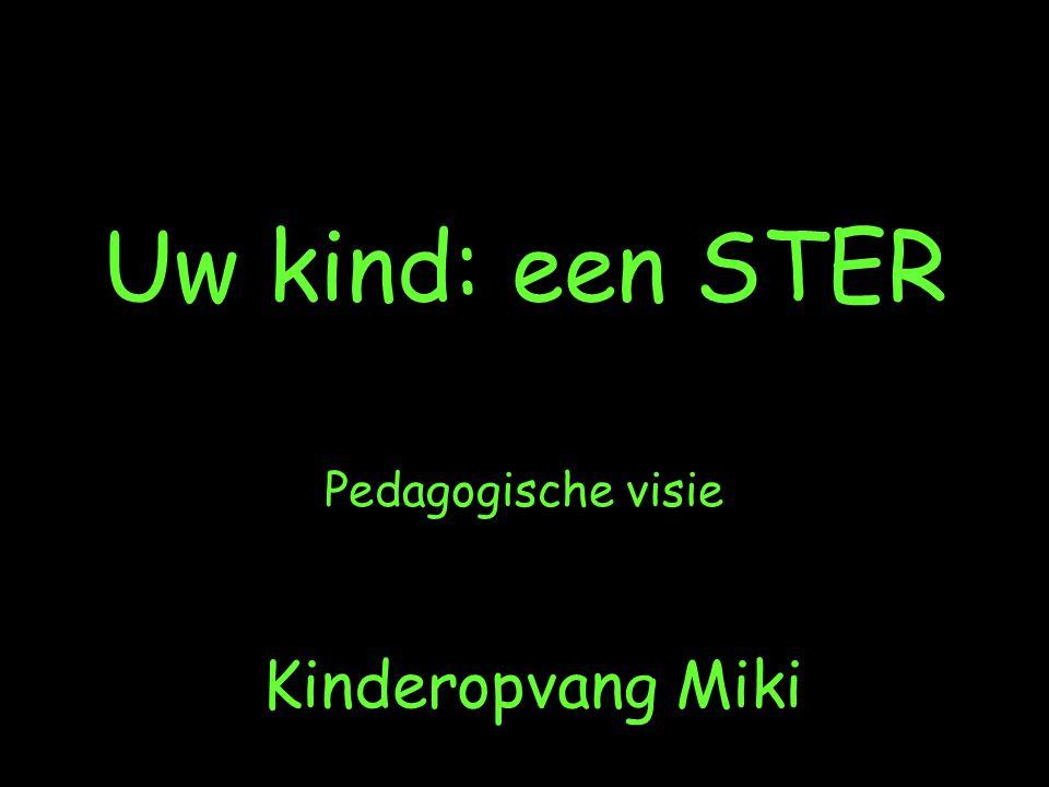 Kinderopvang Miki Uw kind: een STER Pedagogische visie