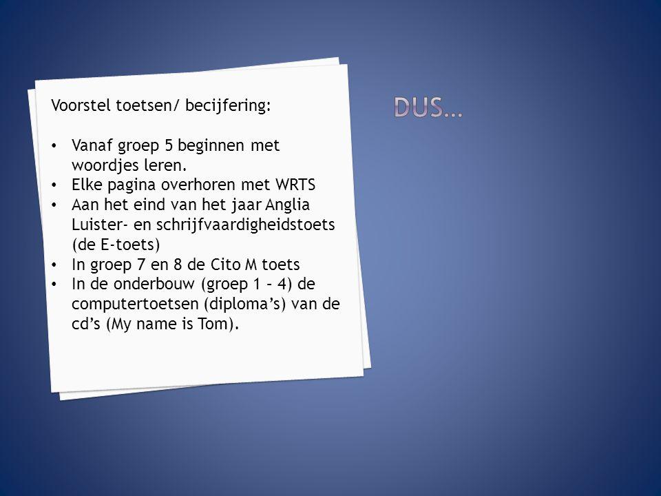 Materiaal te downloaden: Woordenlijsten op papier te downloaden op www.ehb.nu (downloads)www.ehb.nu Woordenlijsten WRTS (overnemen via http://anglianetwork.wrts.nl)http://anglianetwork.wrts.nl Toetsen per groep te downloaden op www.ehb.nu (downloads) www.ehb.nu Toetsen in ParnasSys ook te downloaden via www.ehb.nuwww.ehb.nu Deze presentatie ook…