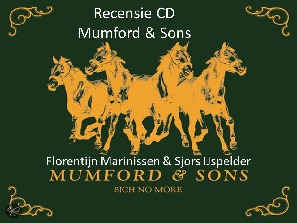 Recensie CD Mumford & Sons Florentijn Marinissen & Sjors IJspelder
