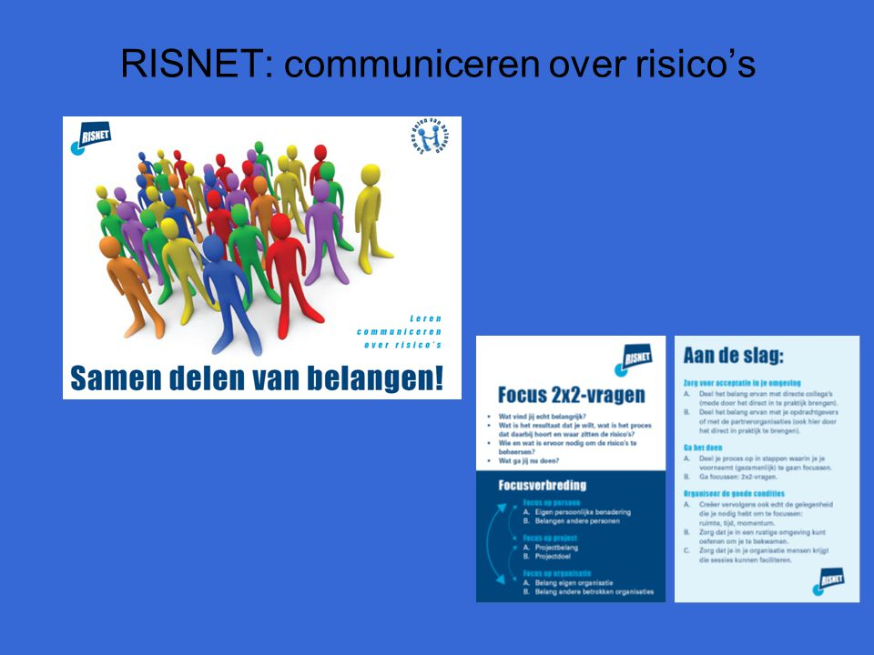 RISNET: communiceren over risico's