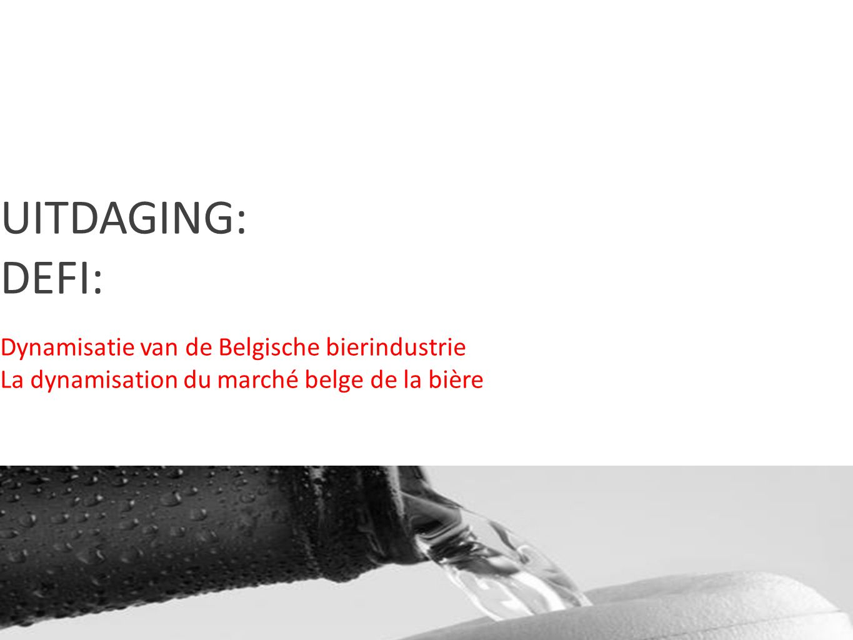 CONTENTS UITDAGING: DEFI: Dynamisatie van de Belgische bierindustrie La dynamisation du marché belge de la bière