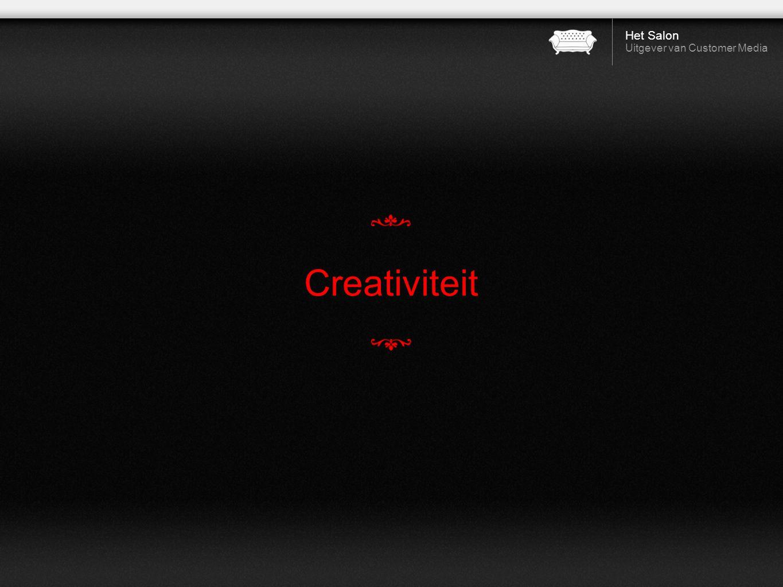 Het Salon Uitgever van Customer Media Creativiteit