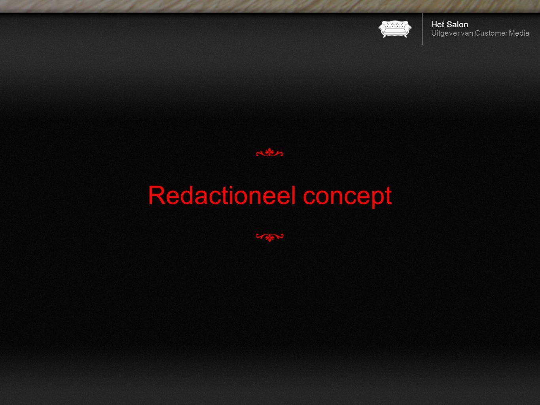 Het Salon Uitgever van Customer Media Redactioneel concept