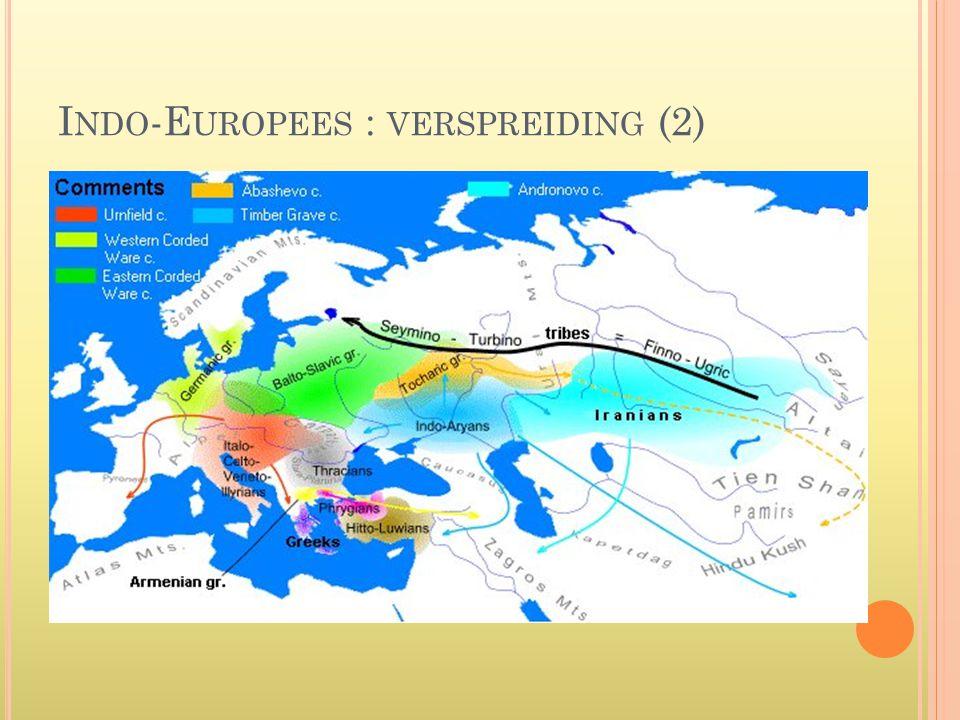 I NDO -E UROPEES : VERSPREIDING (2)